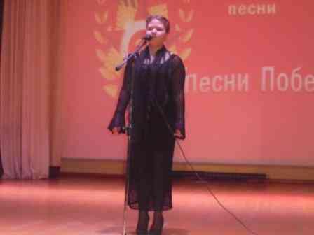 Выступает Зуева Дарья с песней Разлучница война